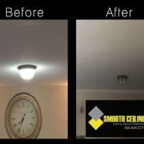 Before and after ceiling work