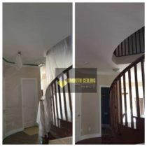 Bannister and stairway stucco