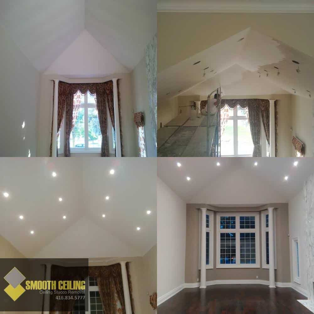 Smooth Ceiling – Popcorn Ceiling Removal & Stucco Removal