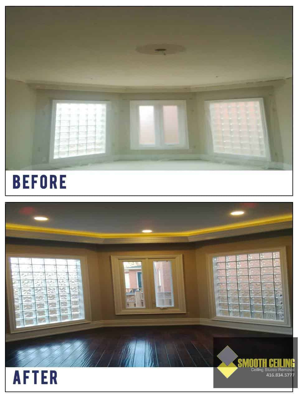 Ceiling repair before after