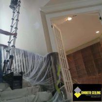 Protecting furniture staircase while repairing ceilings