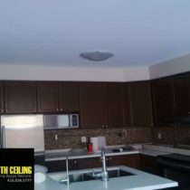Popcorn Ceiling Removal in a Kitchen