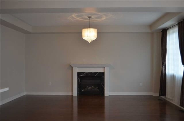 Living room ceiling w fireplace