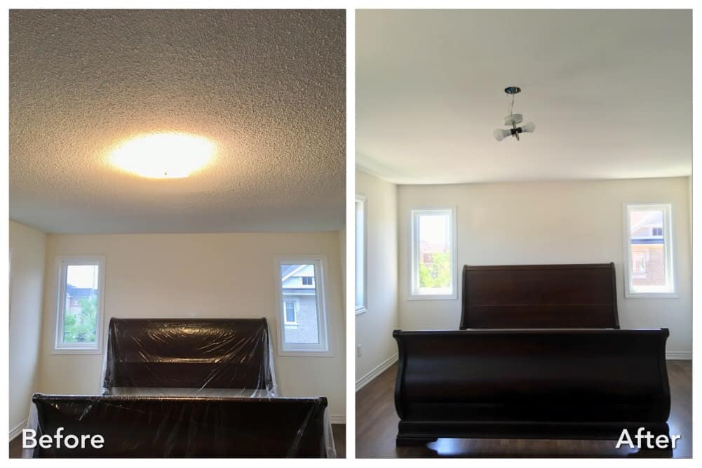 Small upstairs bedroom before and after