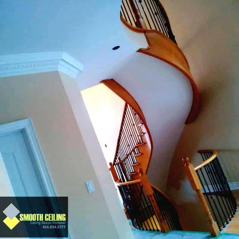 Smooth Ceilings on Stairway